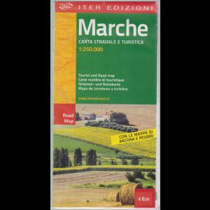 Mappa Marche -Carta stradale e turistica 1:250.000 - Con le mappe di Ancona e Pesaro