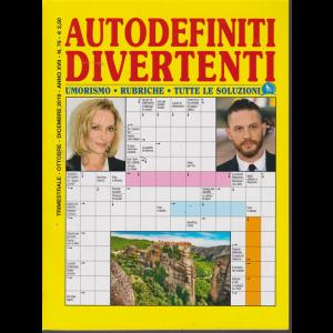 Autodefiniti  Divertenti - n. 76 - trimestrale - ottobre - dicembre 2019 -