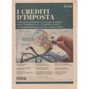 Gli Speciali Di Dossier Lavoro - I crediti d'imposta - n. 1 - bimestrale - marzo 2019 -