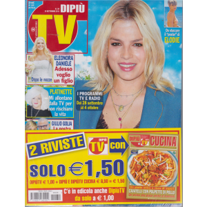 Dipiu' Tv+ - Dipiu' Cucina - n. 39 - 30 settembre 2019 - settimanale - 2 riviste