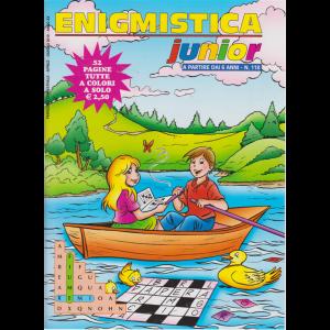 Enigmistica junior - trimestrale - aprile - giugno 2019 - 52 pagine tutte a colori - n. 118