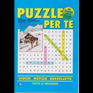 Puzzle per te - n. 58 - bimestrale - novembre - dicembre 2019 - 68 pagine