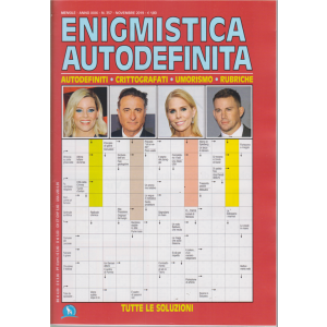Enigmistica Autodefinita - n. 357 - mensile - novembre 2019 -