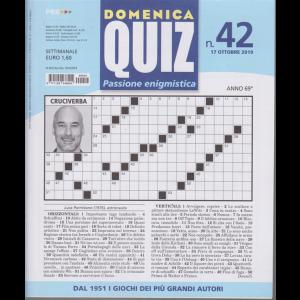 Domenica Quiz - n. 42 - 17 ottobre 2019 - settimanale