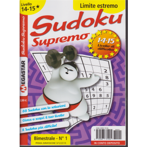 Sudoku Supremo - Liv.14-15 - n. 1 - bimestrale - 3/12/2018 -