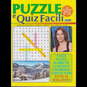Puzzle e quiz facili - n. 267 - bimestrale - gennaio - febbraio 2019 - 68 pagine