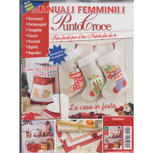 Manuali Femminili - Punto Croce - n. 14 - bimestrale - dic/gen 2019 - per te riviste saggio