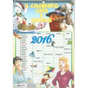 Calendario Casa e Famiglia 2016 cm. 29 x 42 con spirale