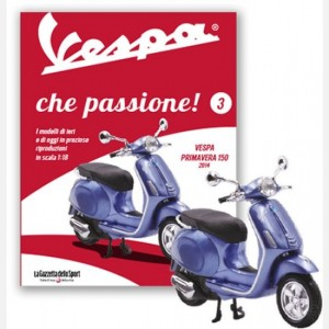 Vespa che passione! Vespa Primavera 150 (2014) + Raccoglitore fascicoli