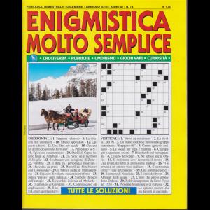 Enigmistica Molto Semplice - n. 74 - bimestrale - dicembre - gennaio 2019 -