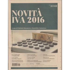 Novita' Iva 2016 by il Sole 24 Ore in edicola dal 29/01/2016