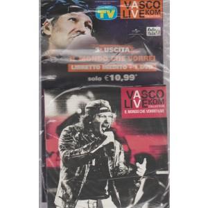 VASCO LIVE KOM COLLECTION IL MONDO CHE VORREI LIVE N. 3 1 DVD + LIBRETTO INEDITO