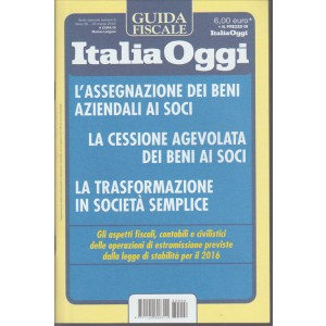 Guida Fiscale di Italia Oggi - L'assegnazione dei beni aziendali ai soci