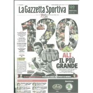 Gazzetta dello Sport VERDE celebrativa dei 120 ANNI di Domenica 3/4/2016