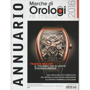 ANNUARIO MARCHE DI OROLOGI IN ITALIA. 2016.