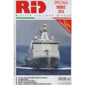 RID. N. 5 MAGGIO 2016. RIVISTA ITALIANA DIFESA. SPECIALE DIMDEX 2016.