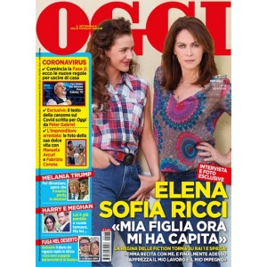 Oggi - Elena Sofia Ricci - n. 16 - settimanale- 23/4/2020 -