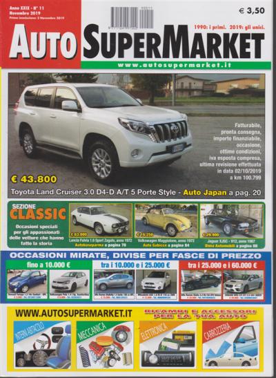 auto super market n 11 novembre 2019 edicola shop auto super market n 11 novembre