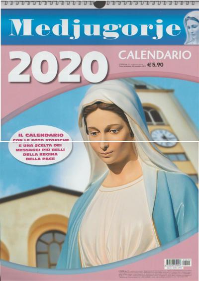 Calendario Medjugorje 2021 Calendario 2020 Medjugorje cm. 30 x 42 c/spirale EDICOLA SHOP